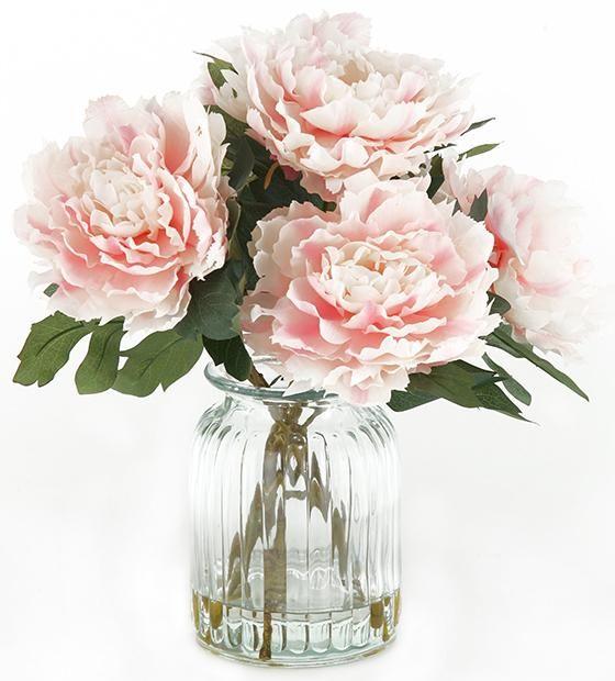 English Garden Peonies In Vase Artificial Flowers Artificial