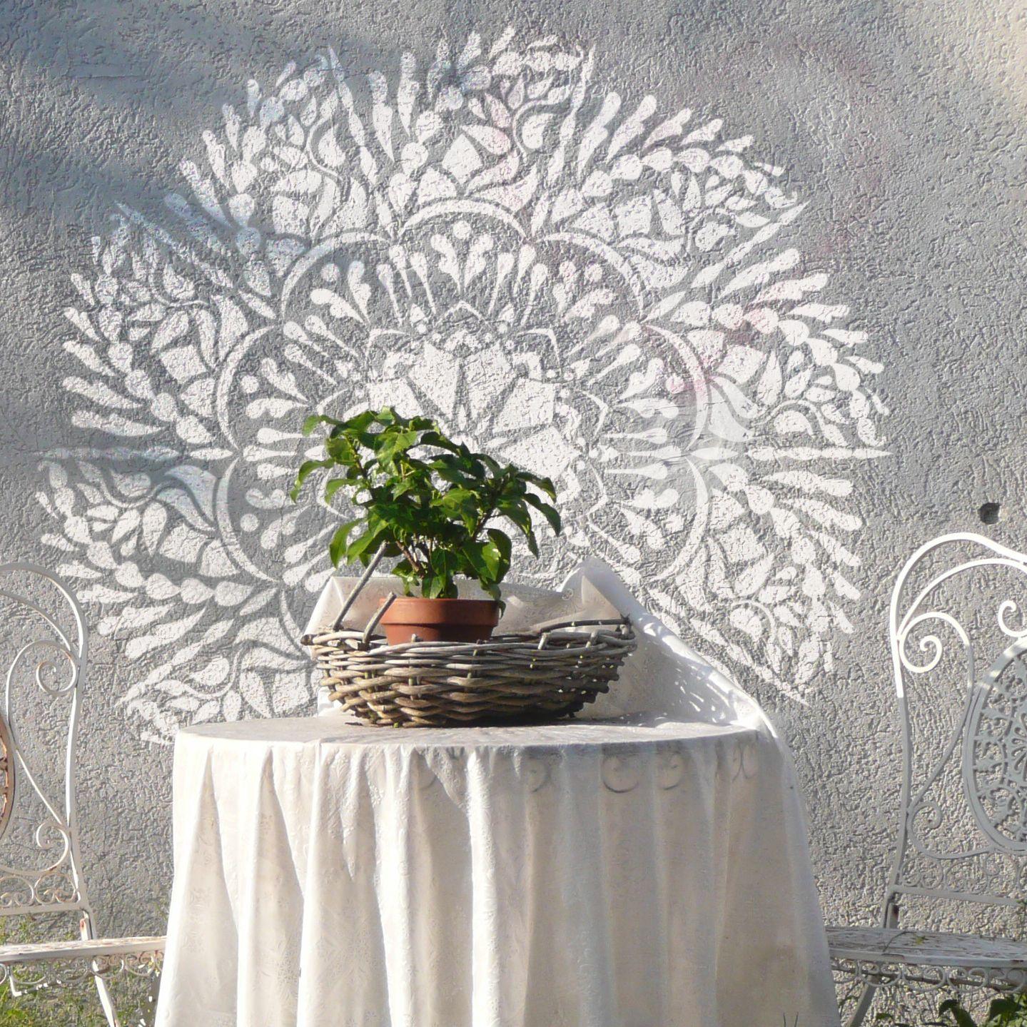 Mandala Wall Stencils Original Mandala Design Mandala Stencil