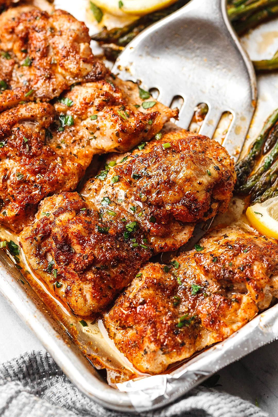Best Oven Baked Chicken with Asparagus images