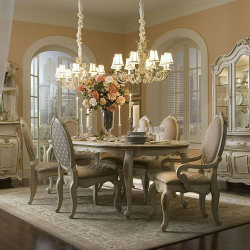 Lavelle Michael Amini Furniture Designs Oval Table Dining