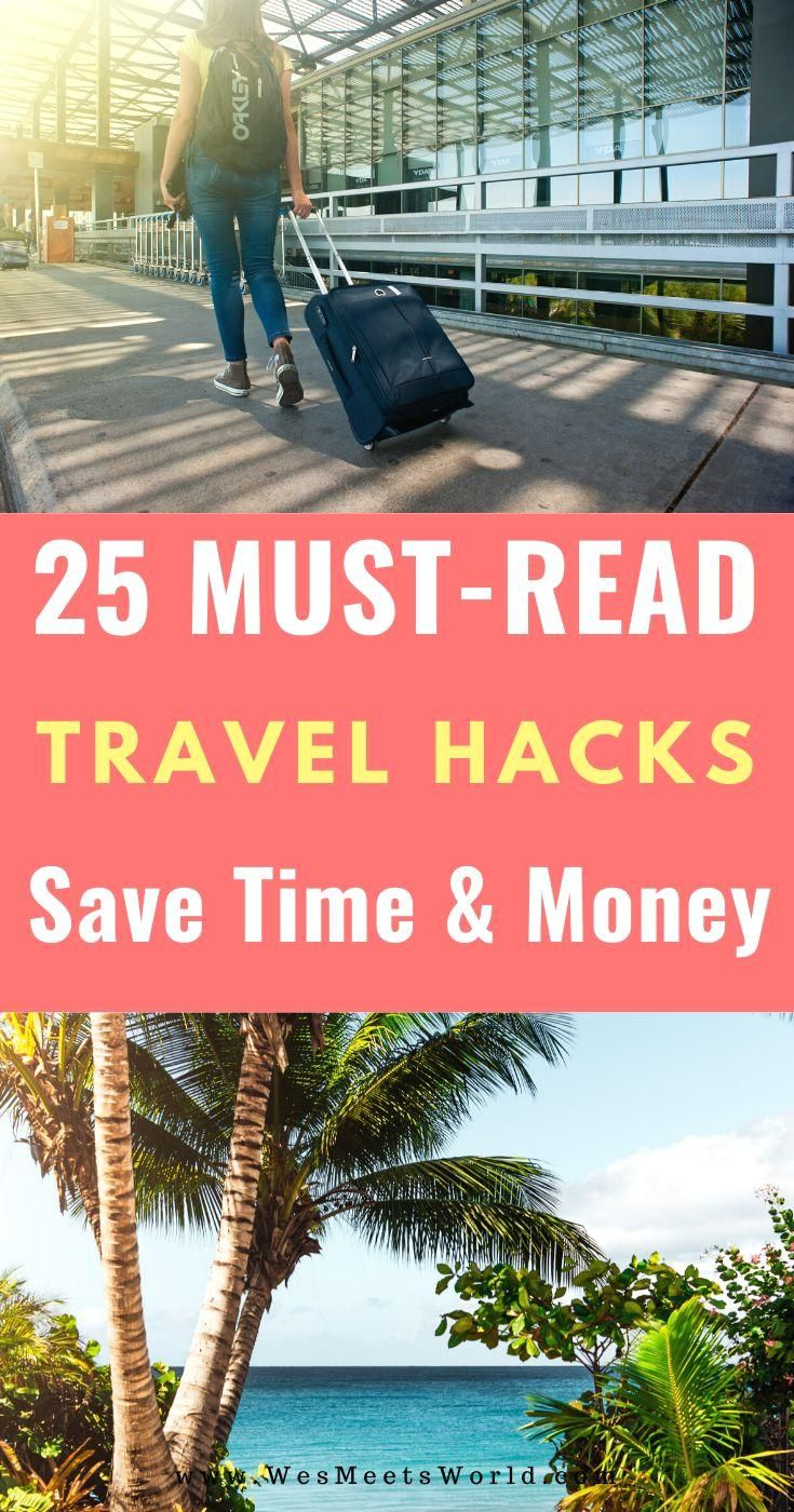 #travel  #travelhack  #traveldestination  #travelinspiration   #through #read Click through to read these top 25 travel hacks that help you save money, time, and space when traveling!