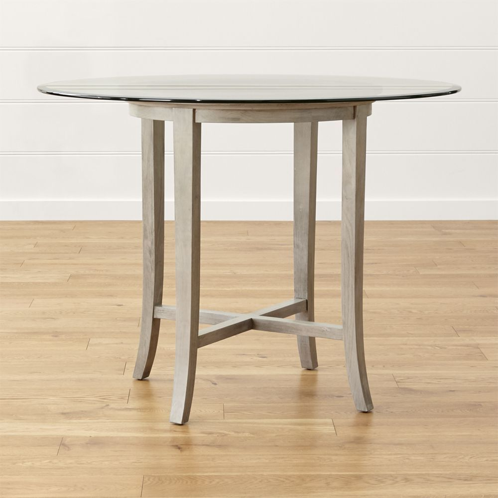 crate and barrel round dining table. Halo Grey Round High Dining Table With 48\ Crate And Barrel R