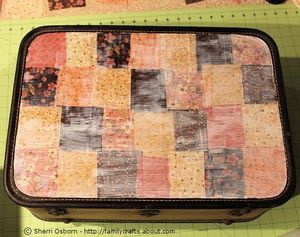 How to Decoupage a Suitcase: Finishing Your Suitcase