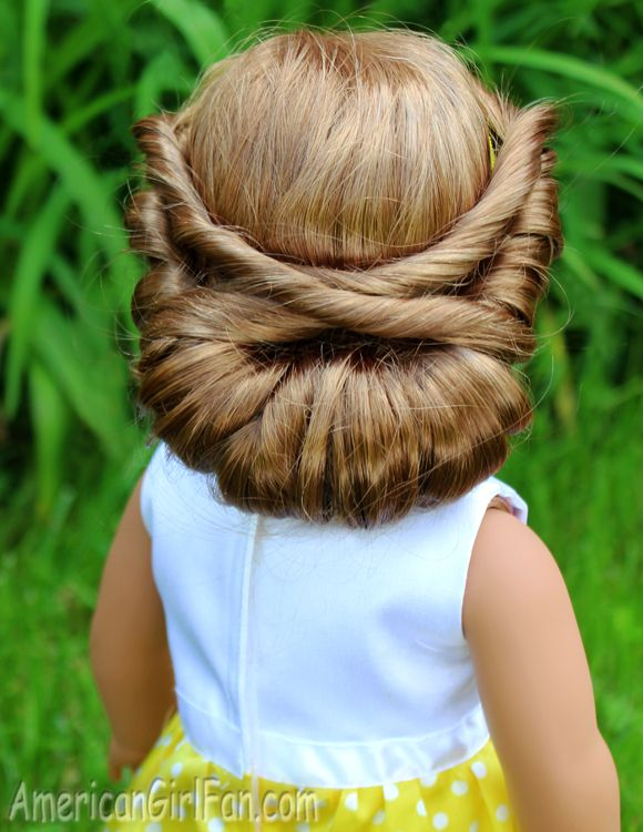 Doll Hairstyles Classy Wrapped Headband Updo American Girl Doll Hairstyle Click Through