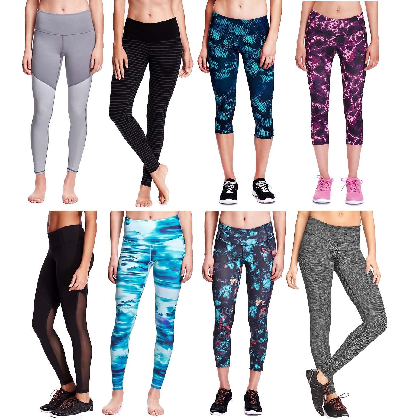 eb9f4e8da0 Old Navy Active: Look at all of these cute leggings!! Perfect for the gym  (or not...)