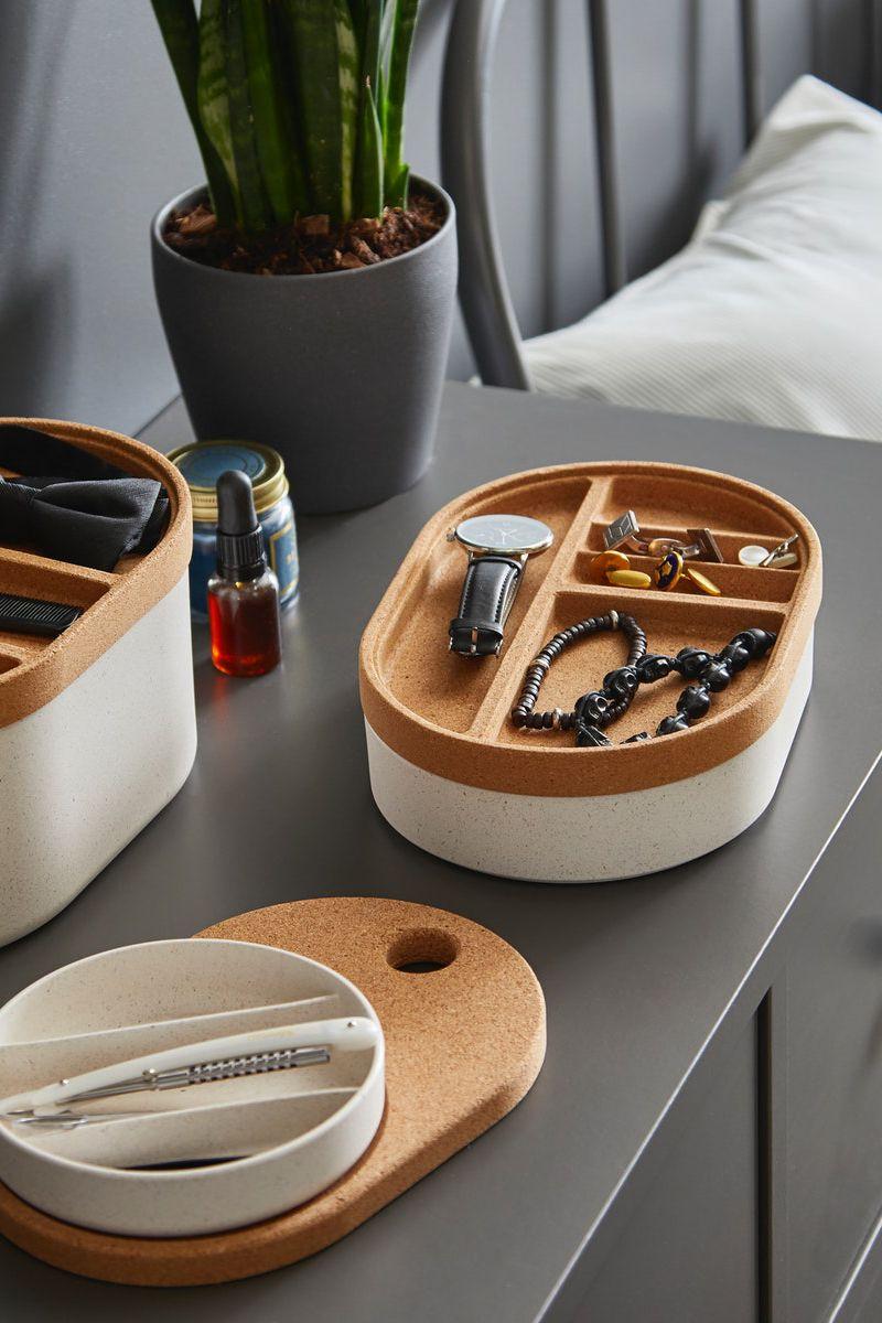 Saxborga Kasten Mit Spiegeldeckel Kunststoff Kork 24x17 Cm Ikea Deutschland Reinigungsmittel Kosmetik Aufbewahrung Schminkaufbewahrung
