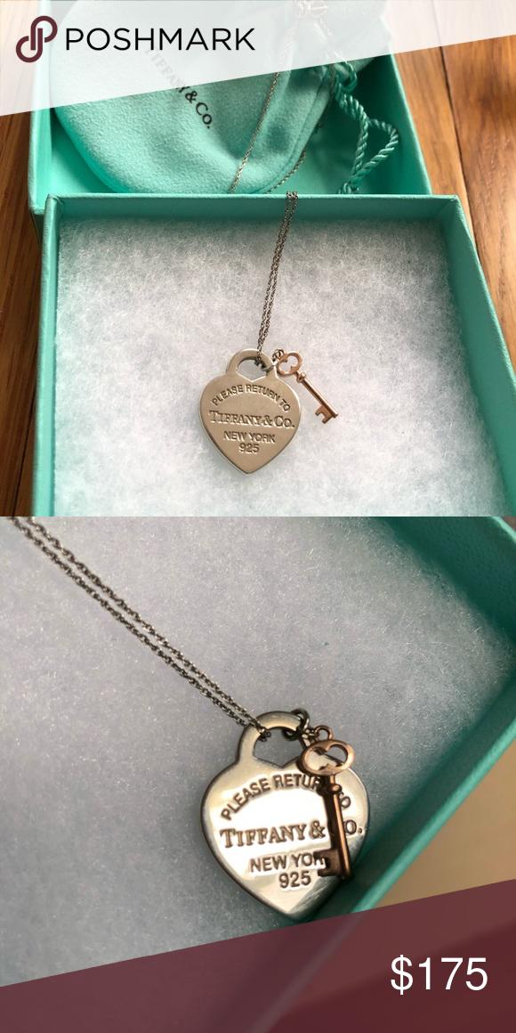 Return To Tiffany Heart Key Pendant Heart Necklace Tiffany Heart Key Pendant Key Pendant