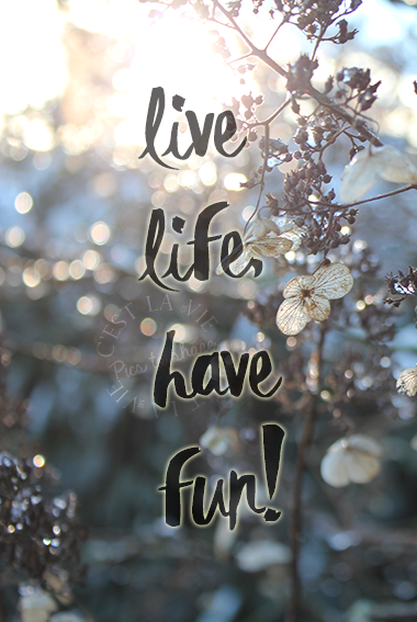 Live life, have fun!
