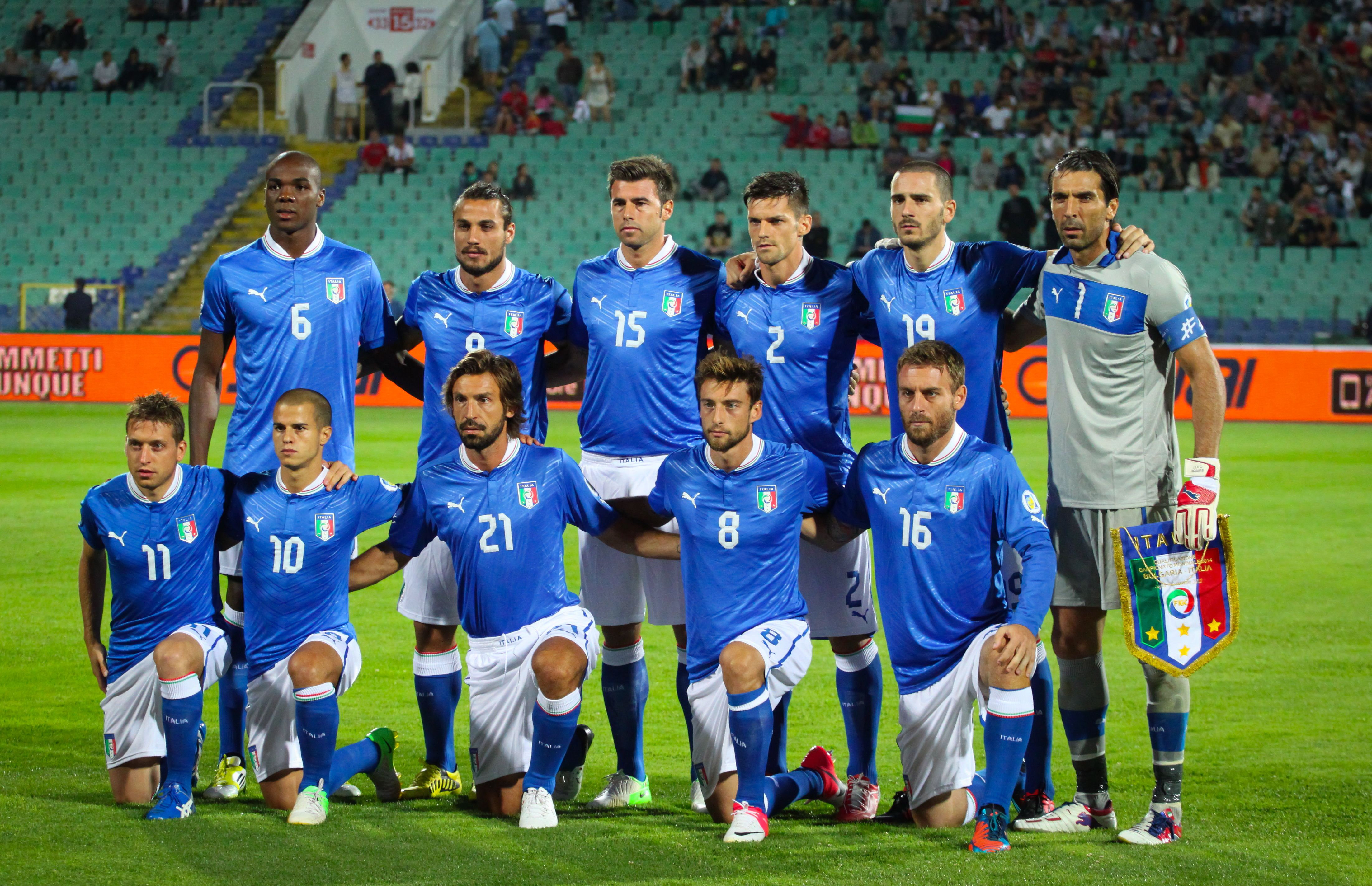 Italy National Football Team Wikipedia The Free Encyclopedia Italy National Football Team Italy World Cup National Football Teams