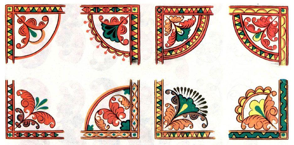 пермогорская роспись трилистник картинки времени