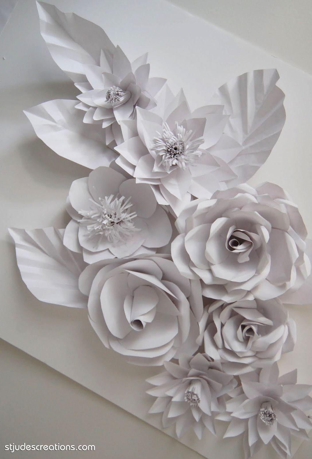 St Judes Creations Paper Flowers Gray Pinterest Paper