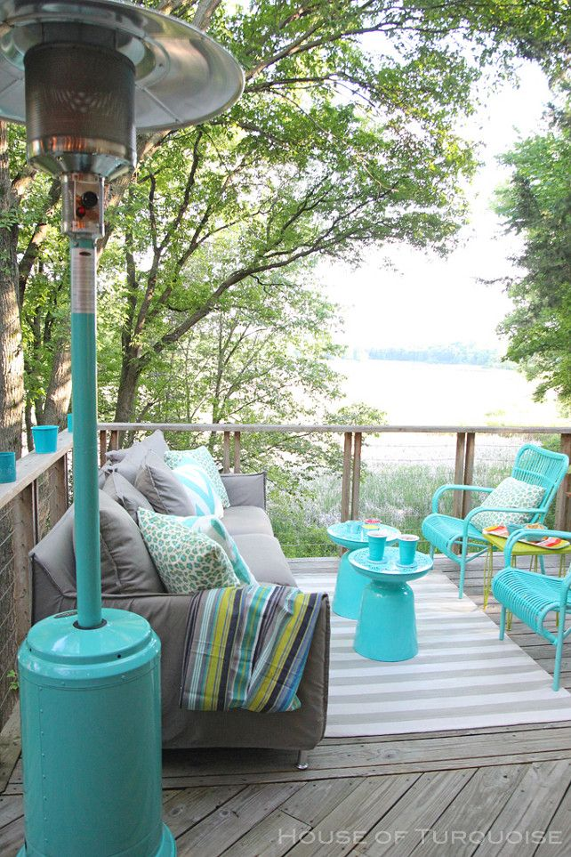 Turquoise Patio Design Outdoor Deck With Turquoise Patio Furniture And Turquoise Accents Rustic Patio Furniture Outdoor Patio Decor Painting Patio Furniture