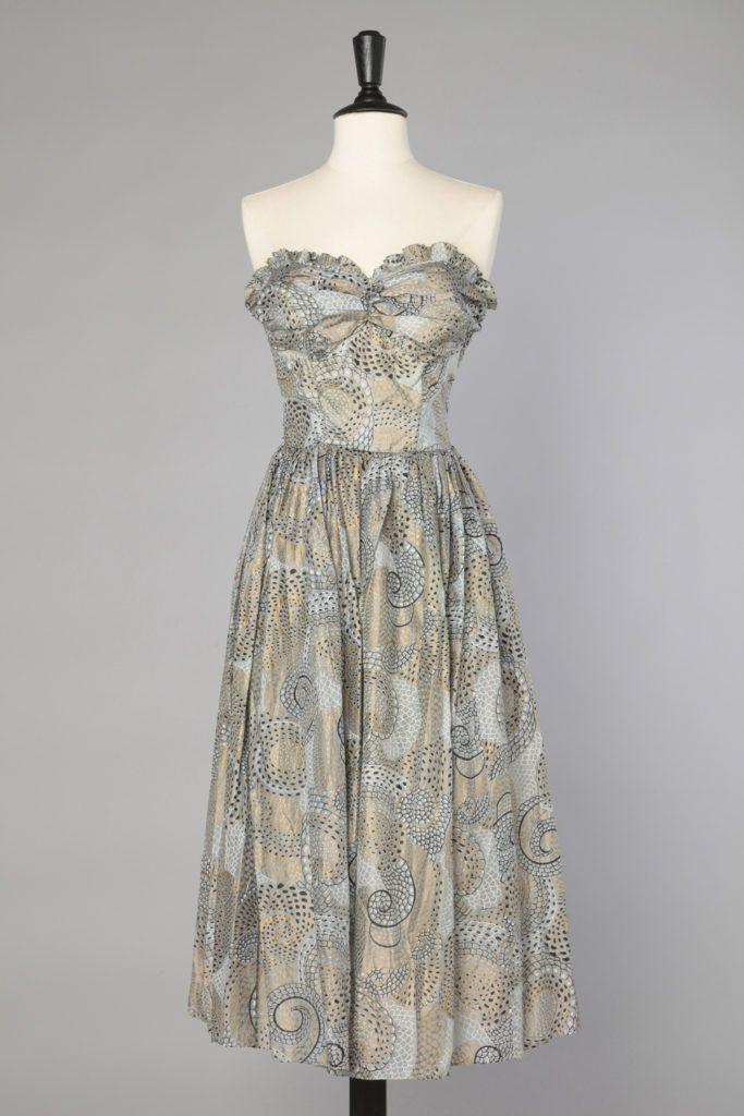 Balconnet ImpriméeRobes 1950 D'été En Dresses Robe Soie Summer cj35Aq4RL
