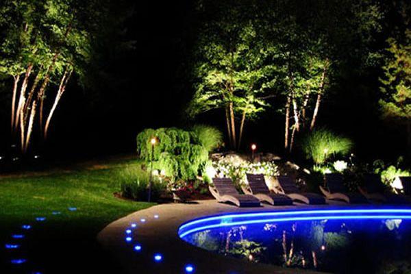 Lighting Around The Pool Landscape Lighting Design Modern Landscape Lighting Outdoor Lighting Landscape