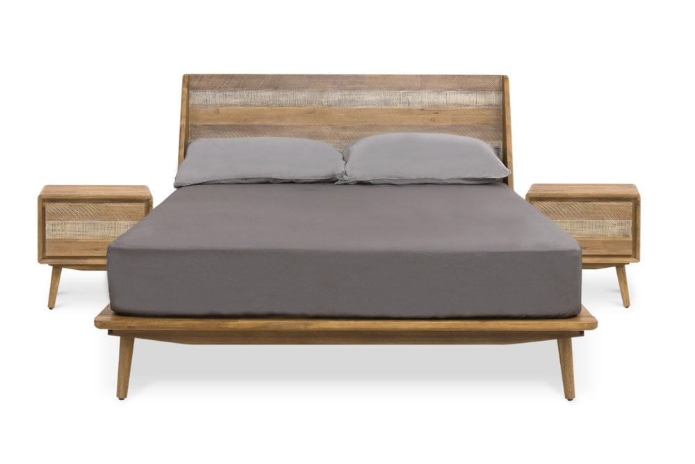 Spot Queen Size Bed With 2 Side Tables Bed Coastal Bedrooms