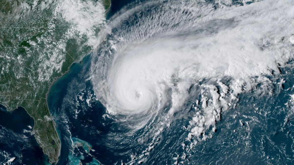 Hurricane Humberto Over Bermuda Lorena Imelda And Jerry Threaten Mexico Texas Caribbean Hurricane Bermuda Satellite Image