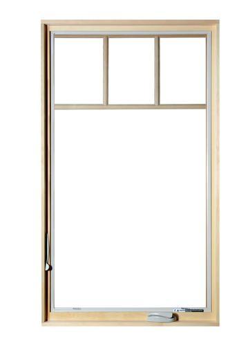 Crestline 30 W X 48 H Select 500 Vinyl Casement Tan Exterior Pine Interior Cottage Grilles Left Hinged Outside View Casement Windows