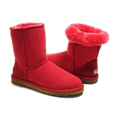 UGG Classic Short Boots 5825 Tomato Red Cheap Sale - UGGS For Women,All UGG Boots are Save Up to 70% Clearance Sale!