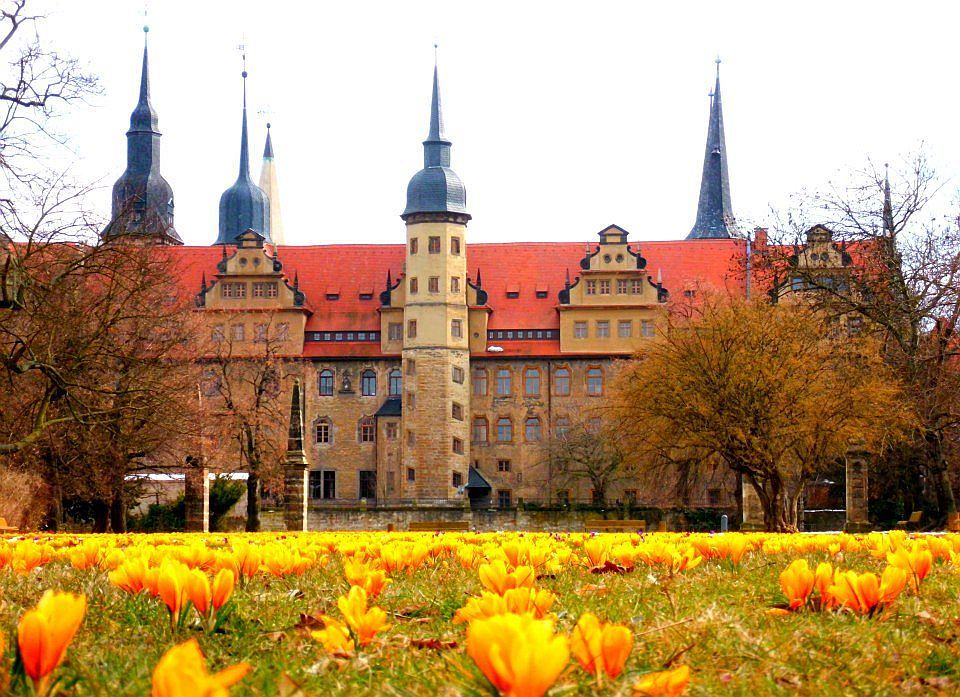 Schloss mit Parkwiese Merseburg Foto M. Gläsel