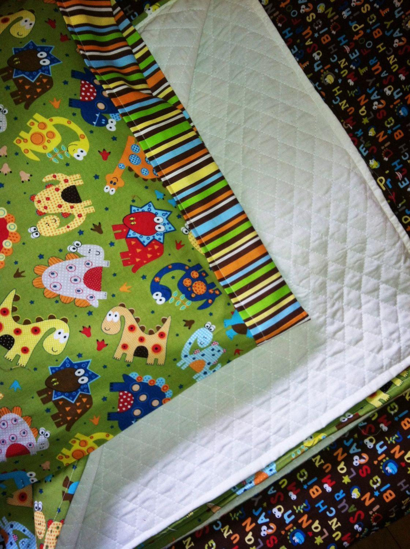 Dinosaur Crib/Toddler Bedding Set by CraftingWhileTheyNap ...