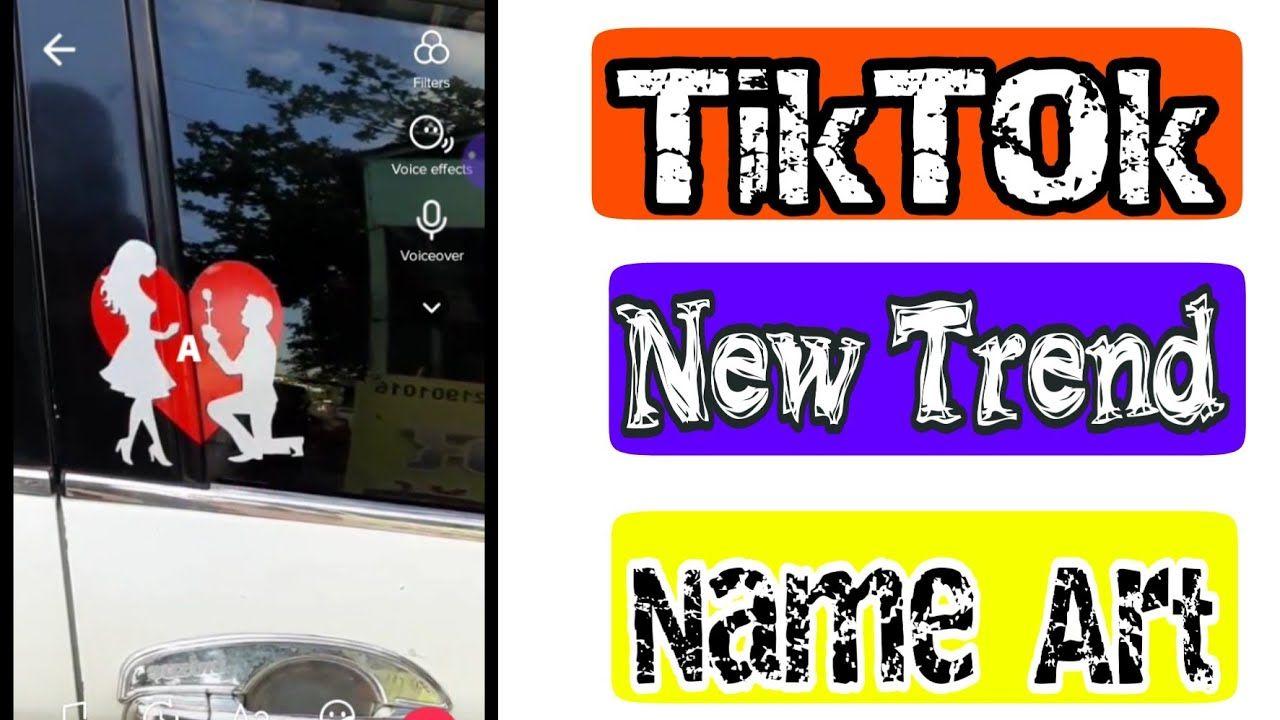 How To Make New Trend Girls And Boy Friend Name Art Video Tutorial Tiktok Name Art Editing Simple Name Art Art Videos Art Videos Tutorials