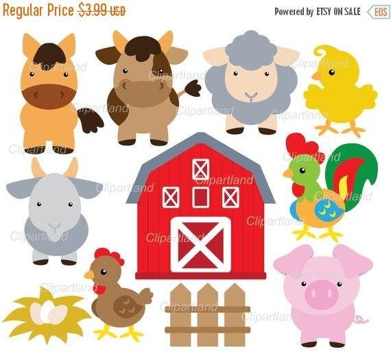 On Sale Instant Download Farm Animals Clip Art Cf 31 Etsy Farm Animals Farm Animal Crafts Pets Preschool Theme