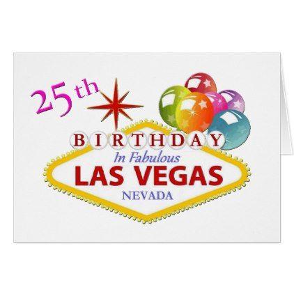 25th las vegas birthday card standard 5 x 7 vegas birthday 25th las vegas birthday card standard 5 x 7 m4hsunfo