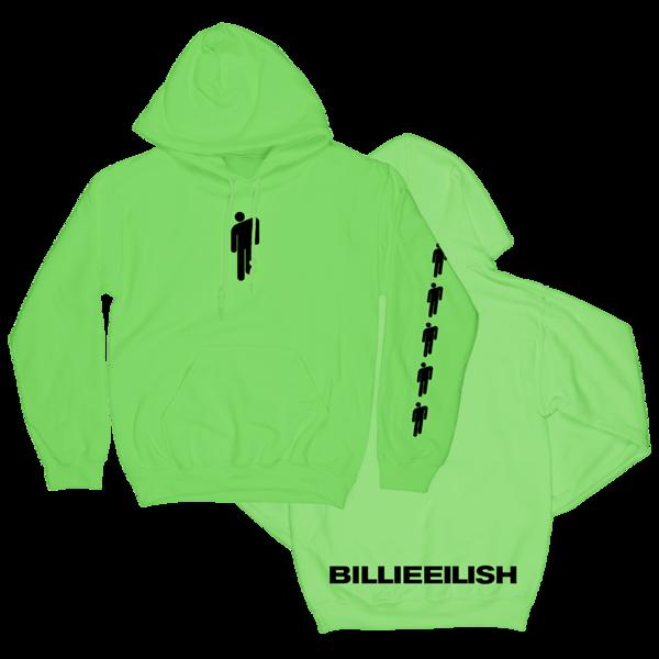 Green Hoodie Billie Eilish Billie Eilish Merch Sweatshirts Green Hoodie