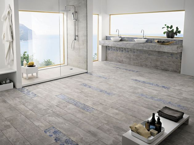 la-fabbrica-concrete-look-tile-bathroom-floor.jpg - 25 Beautiful Tile Flooring Ideas For Living Room, Kitchen And