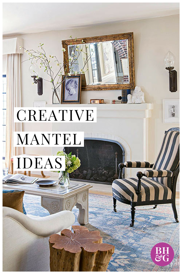 25 Creative Ways To Dress Up Your Mantel Home Decor Shops Eclectic Decor Installing A Fireplace #ways #to #decorate #your #living #room