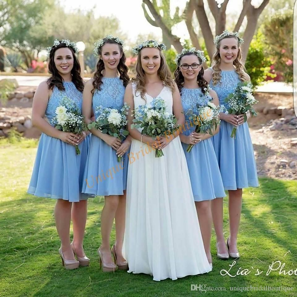 Short bridesmaid dresses 2017 cheap with lace bodice and chiffon short bridesmaid dresses 2017 cheap with lace bodice and chiffon skirt junior formal gowns under 100 ombrellifo Image collections
