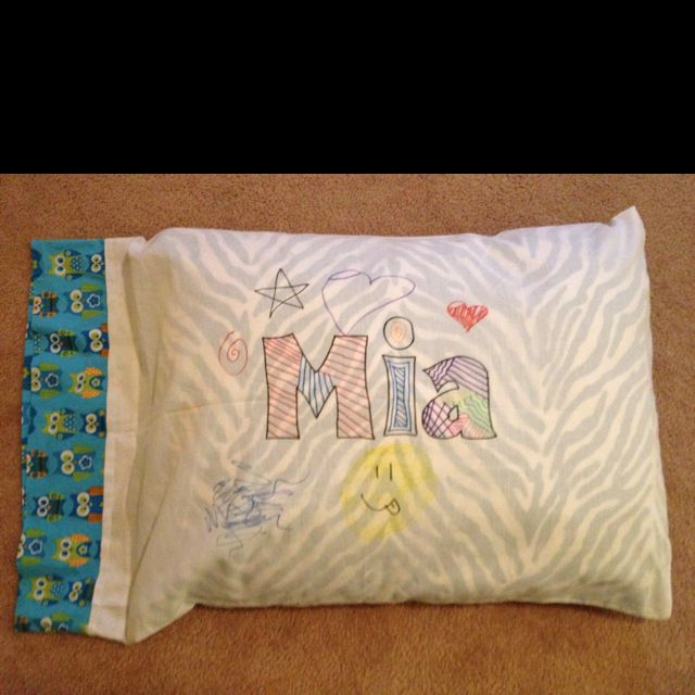 Brilliant Party Favor For A Slumber Party Decorate Your Own Pillow Fascinating Decorate Your Own Pillow