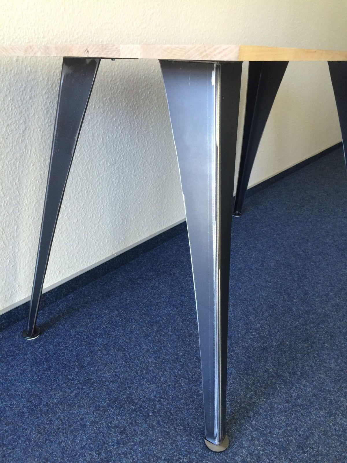 4 Stuck Tischbeine Winkel Kurve Design Tisch Tischgestell Loft