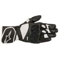 Photo of Alpinestars Men's SP-1 v2 Black/White Leather Gloves – 35581…