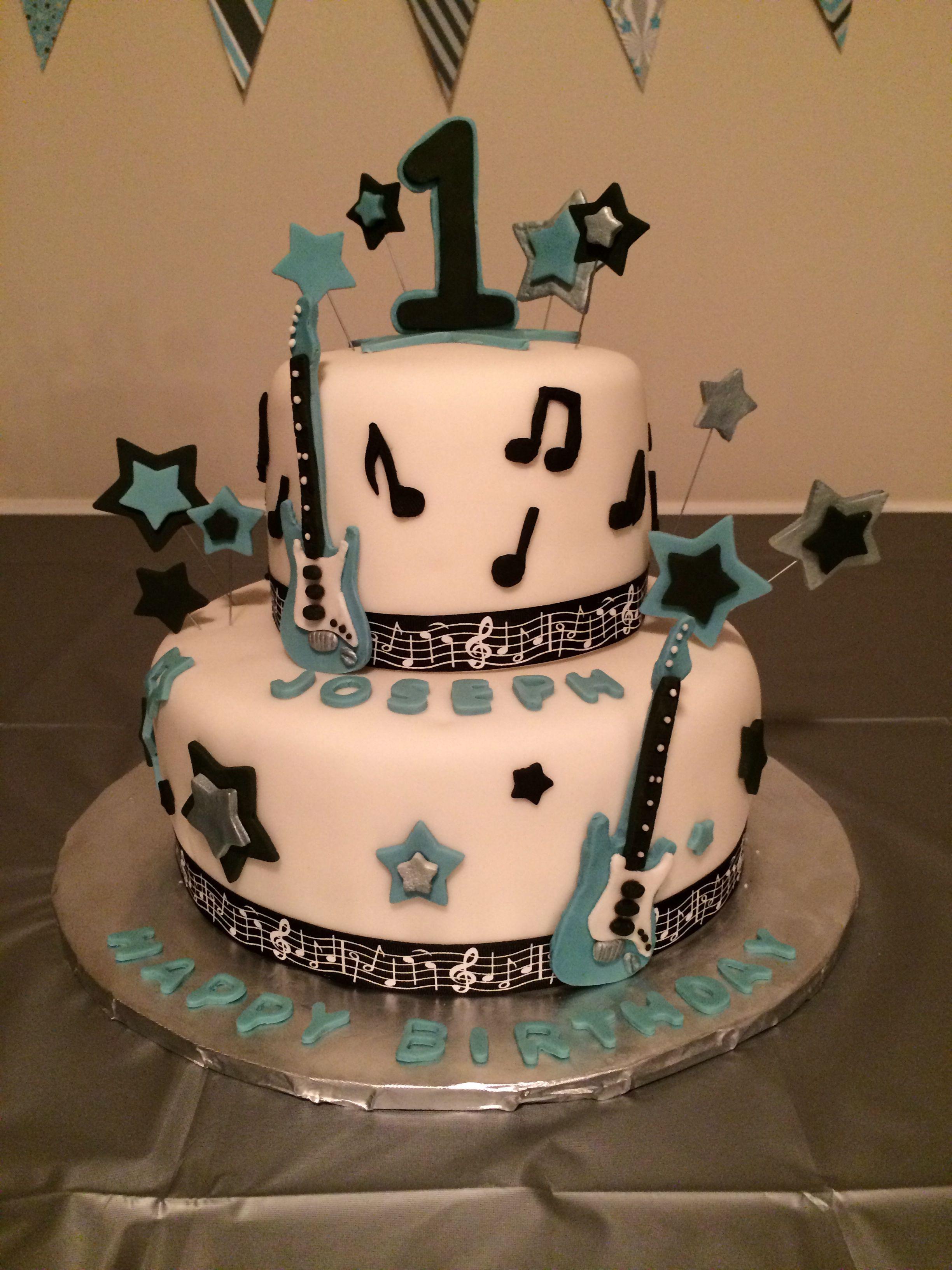 Rockstar Birthday Cake 1st Birthday Pinterest Birthday Cakes