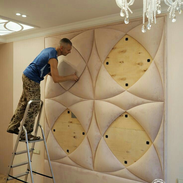reka bentuk hiasan dalaman teres interior designing service providers Bed Design, Wall Design, Bedroom Decor, Bedroom Furniture, Home Bedroom,  Sofa
