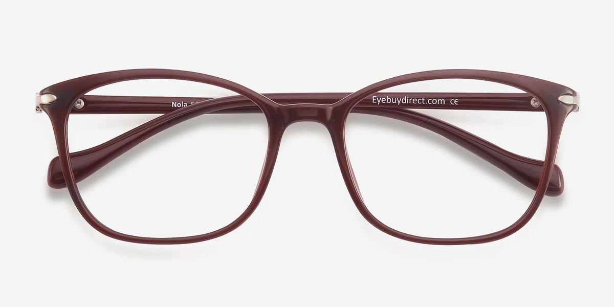 cf37771a54b8 Nola Dark Red Plastic Eyeglasses from EyeBuyDirect. A fashionable frame  with great quality and an affordable price. Come see to discover your style.