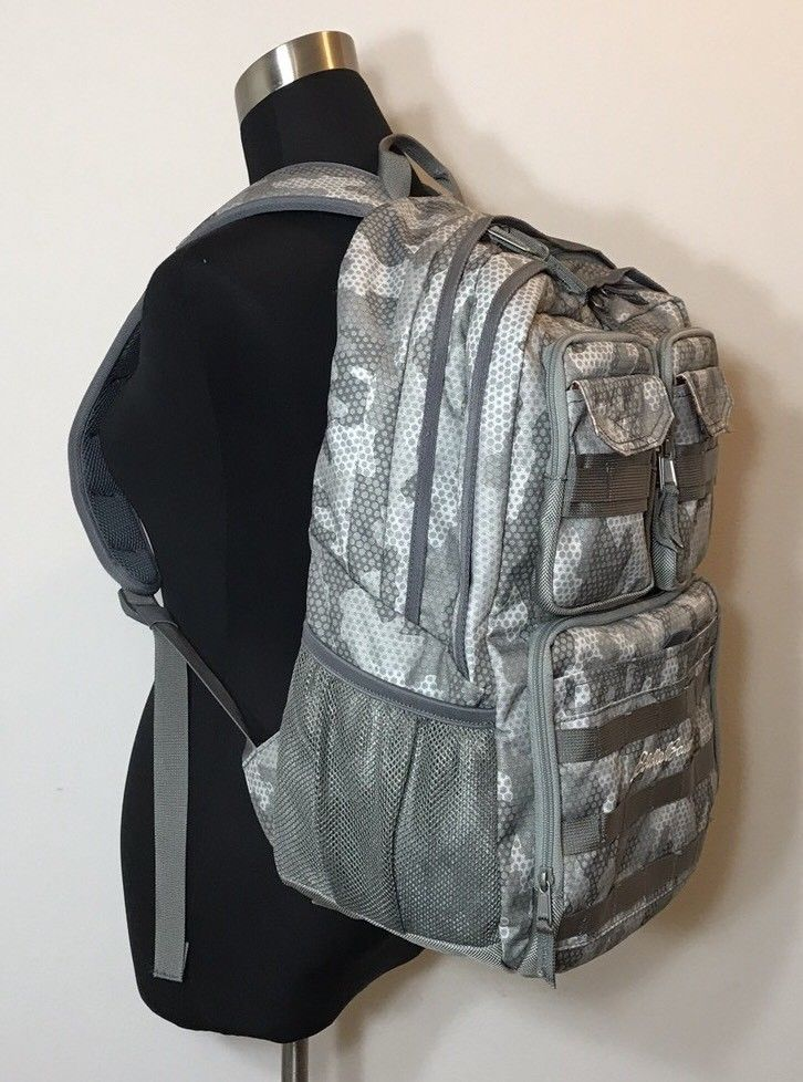 499207f3c0d4 Eddie Bauer Cargo Pack Gray Camouflage Backpack | eBay & E-Commerce ...
