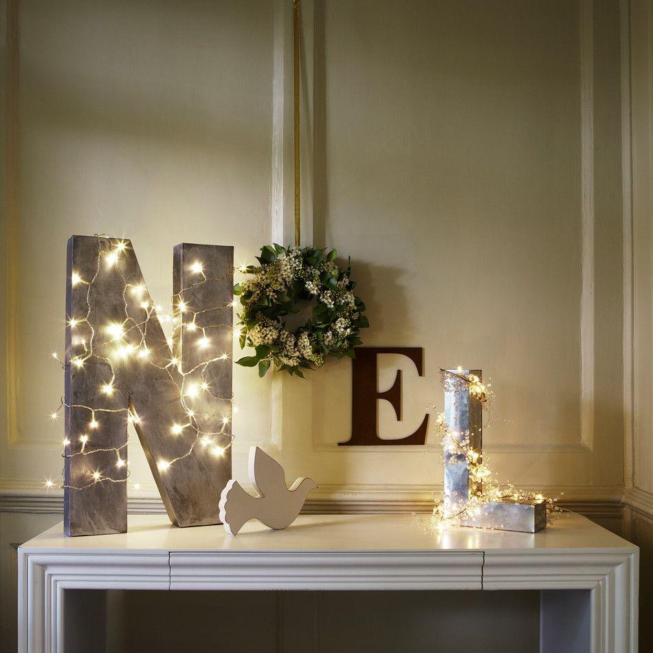 Fairy light wedding decoration ideas   LED Warm White Battery Operated Fairy Lights  Christmas