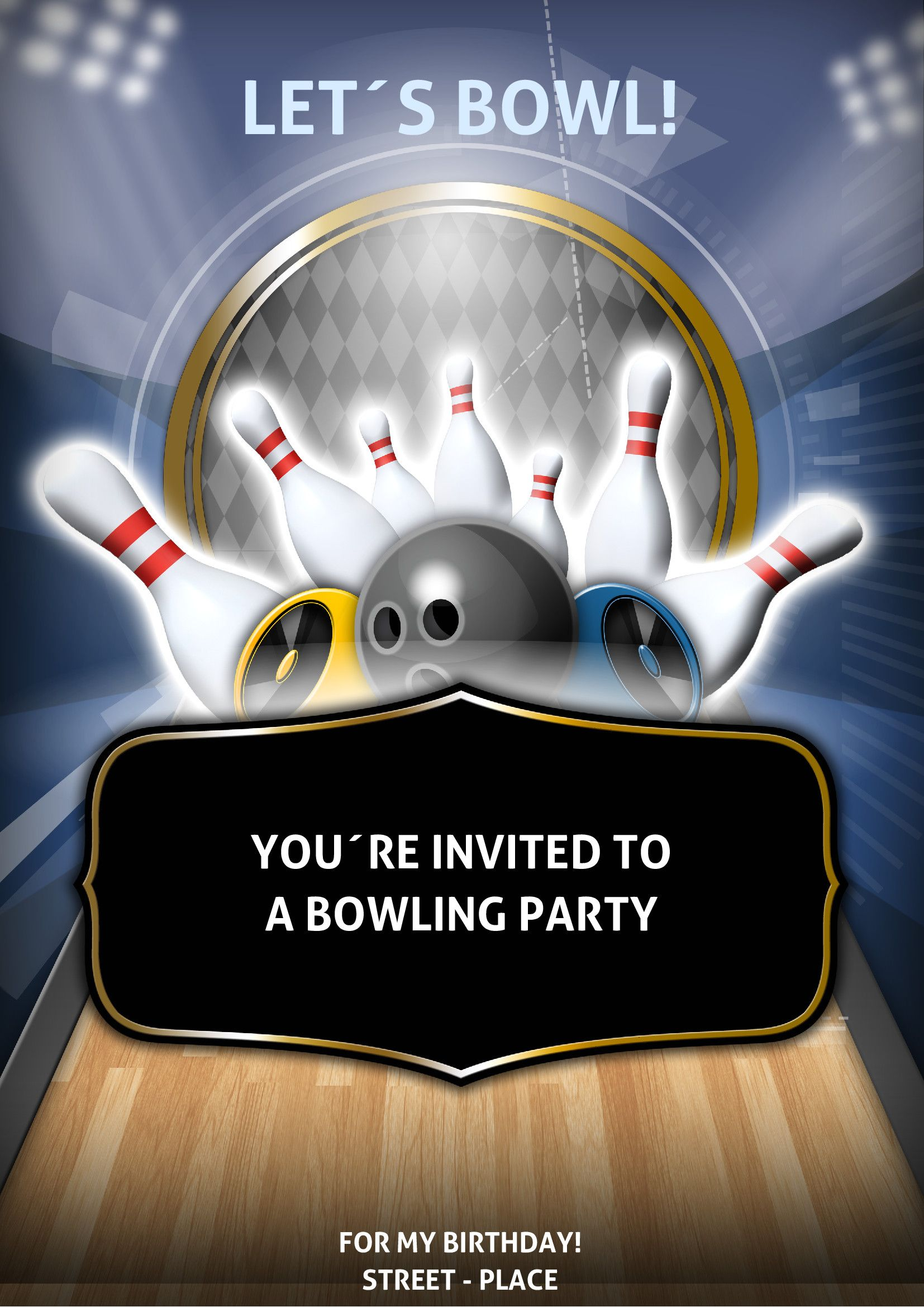 Bowling Flyer Is Just Like A Sports Flyer And It May Be Use To