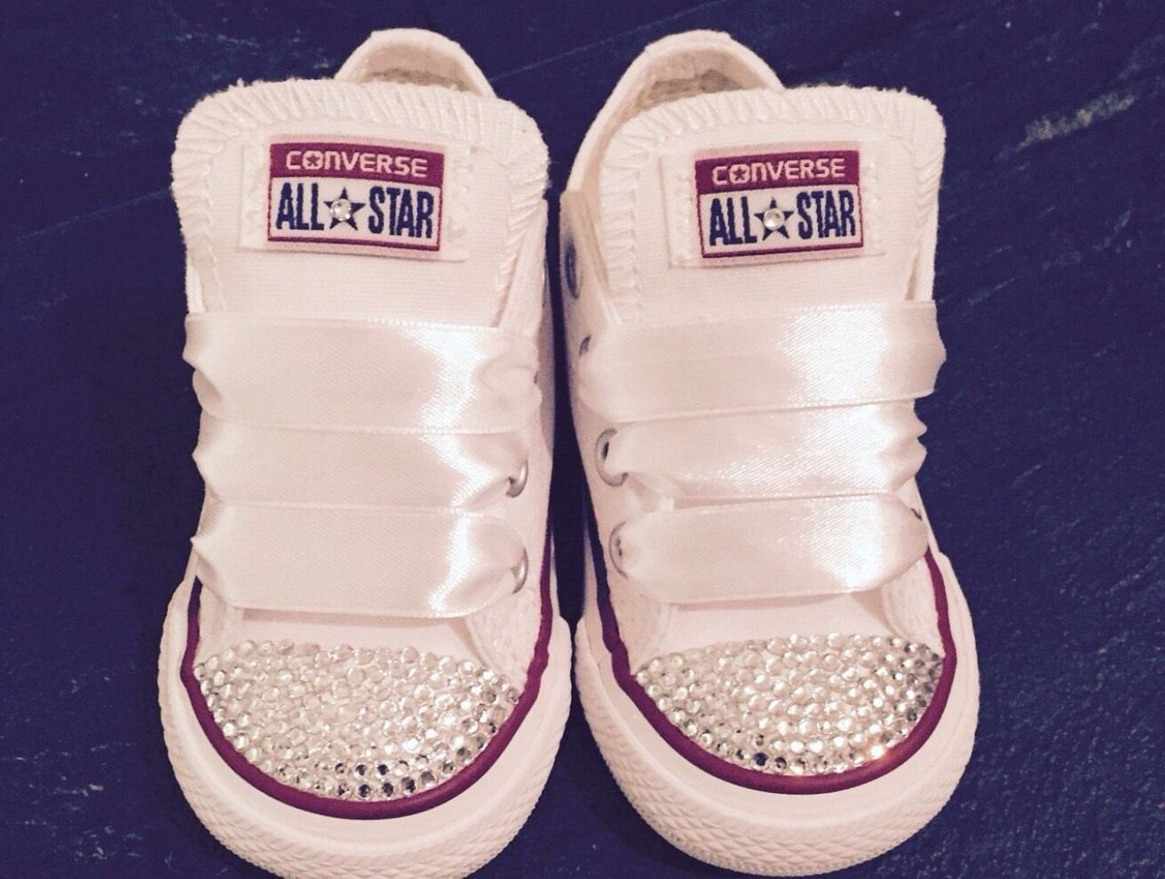 46279c2abe23 Kids infants  amp  toddler sizes crystal sparkly converse all star shoes  with clear swarovski crystals