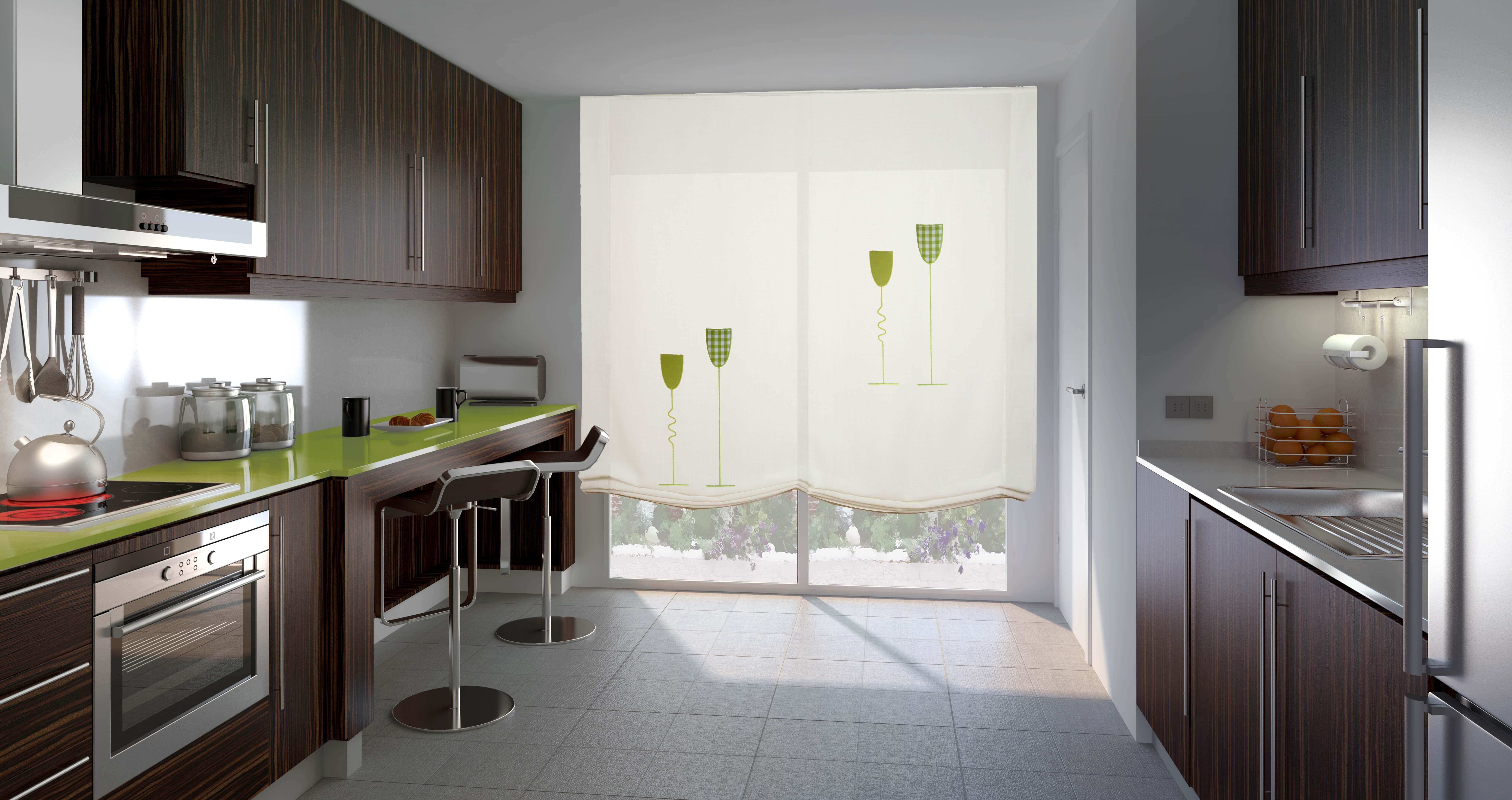 Estor para cocina de copas de vino cortinas y paneles - Paneles para cocina ...