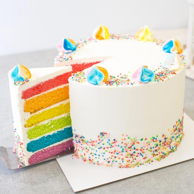 Best Rainbow Birthday Cake Singapore Rainbow cake, Cake