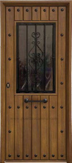 Puertas rusticas de herreria buscar con google puertas for Puerta madera rustica