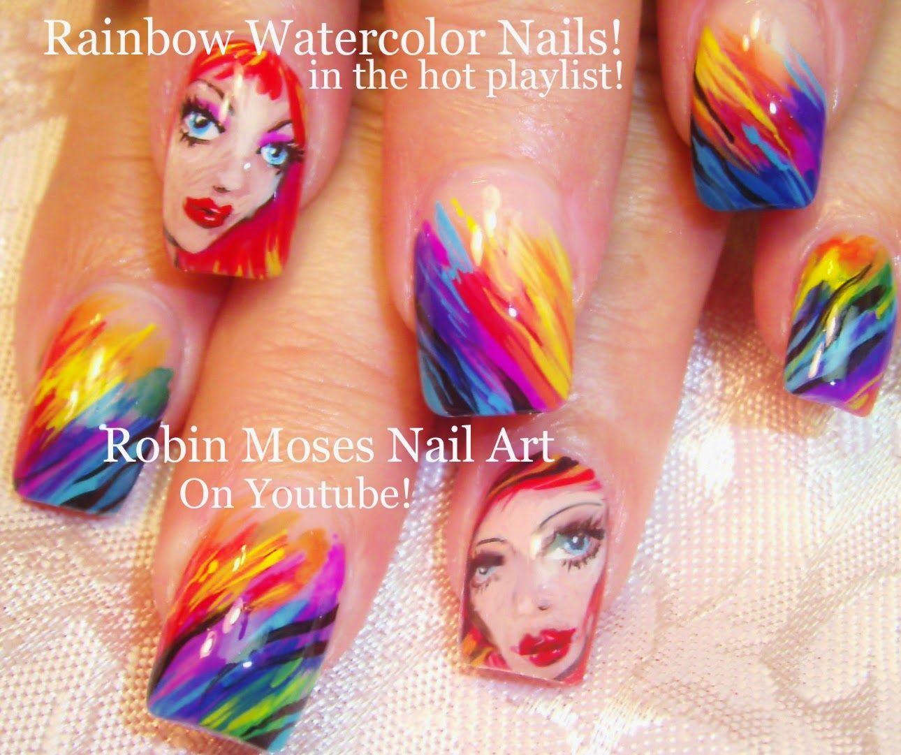 rainbow nails\