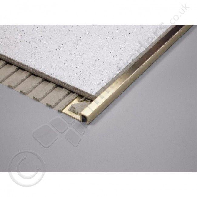 Dural Formable Aluminium Box Section Tile Trim Dpae 2 5m Tile Trim Stone Wall Design Modern Flooring
