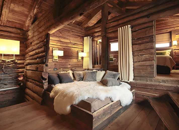 Stunning luxury chalets for winter holidays on the nature for Luxury winter cabins