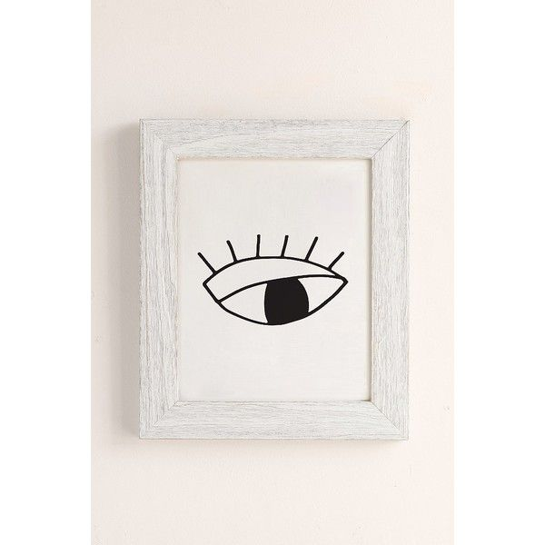 Cult Paper Eye Art Print (78 CAD) ❤ liked on Polyvore featuring