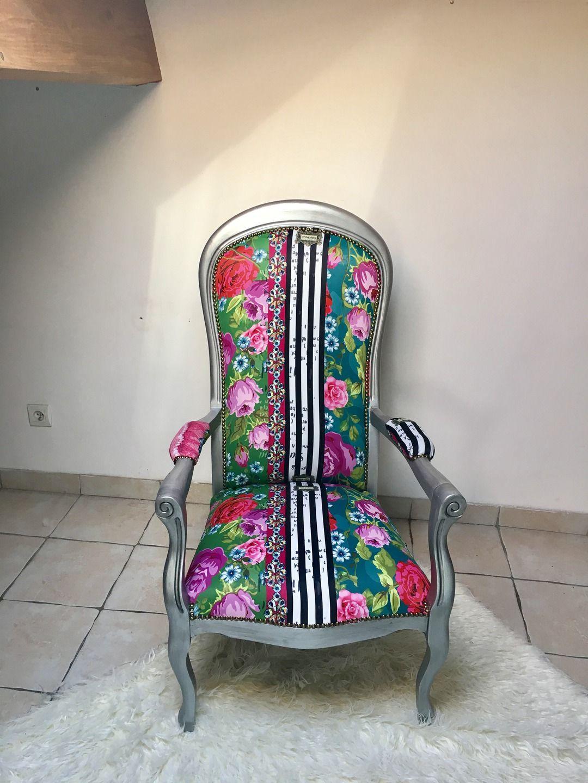 Fauteuil voltaire vintage meubles et rangements par artcreation vintage voltaire - Meuble voltaire ...
