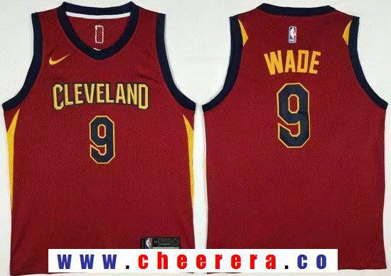 Men s Cleveland Cavaliers  3 Dwyane Wade Red 2017-2018 Nike Swingman  Goodyear Stitched NBA Jersey ad1e3558c
